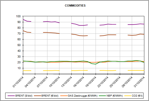 Report of the Energy Market Prices for the month of October 2014