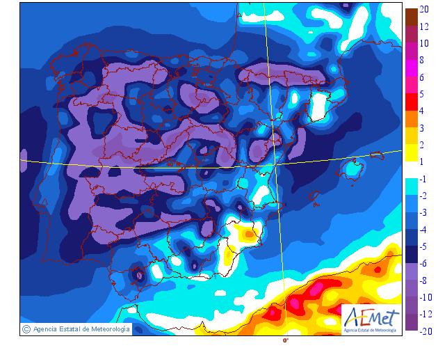 AleaSoft - AEMET Variacion temperatura minima