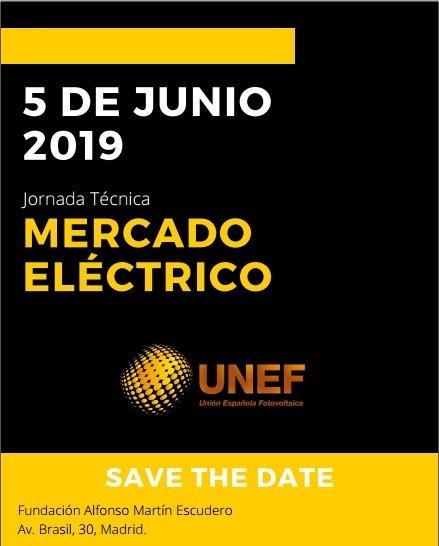 AleaSoft - UNEF jornada mercado electrico