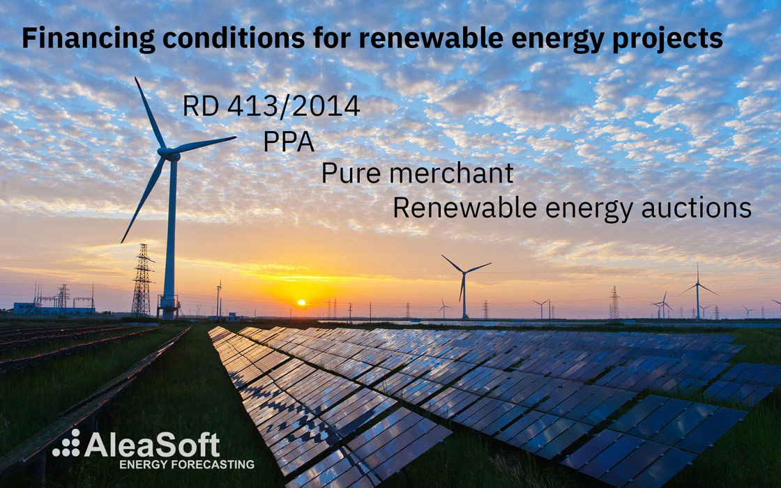 AleaSoft - financing conditions renewable energy projects